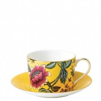 Yellow Tonquin Teacup & Saucer