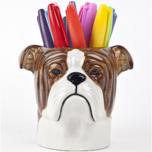 English Bulldog Pencil Pot