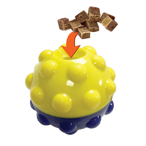 "Bumper Treat Ball - Treat Dispensing Toy for Dogs - 3"" and 5"""