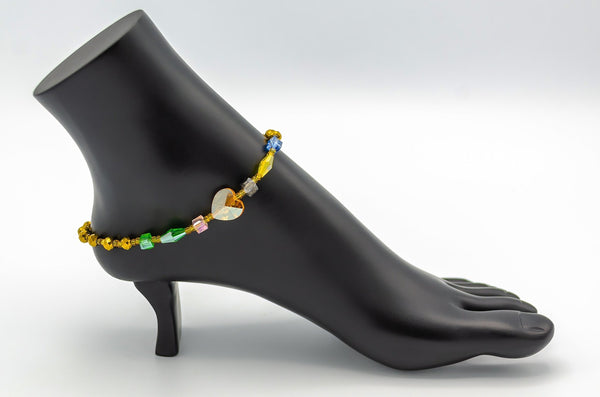 African Multicolor Ankle Bracelets (ON SALE) - Leone Culture