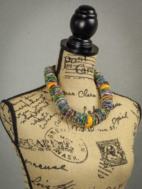 African Print Necklace - Leone Culture