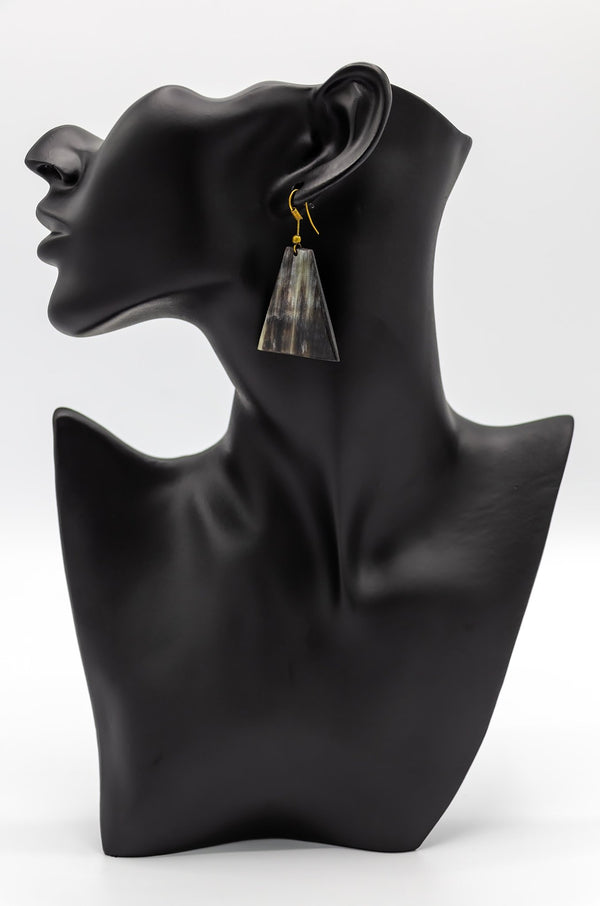 African Tribal Horn Earrings - Leone Culture