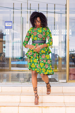 Arias African Print Dress - Leone Culture