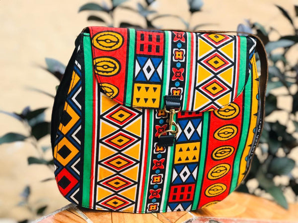 Fatima African Print Shoulder Bag - Leone Culture