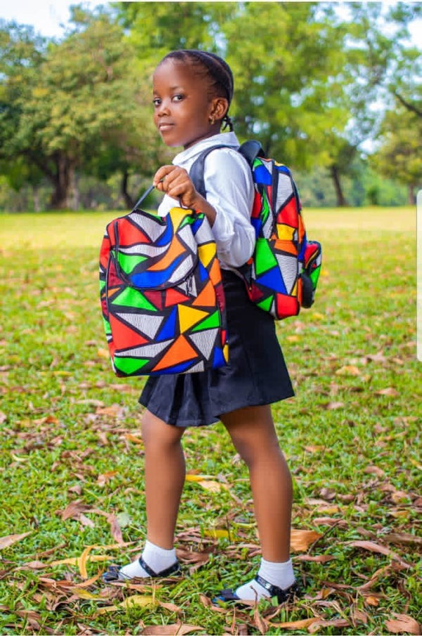 Nanda African Print Kids Backpack Set - Leone Culture
