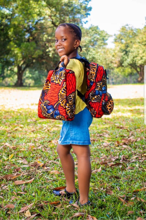 Nanda kids African Print Backpack Set - Leone Culture