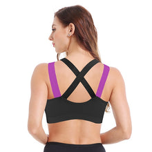 Load image into Gallery viewer, Multi colour shoulder strap sports bra (S-XL)