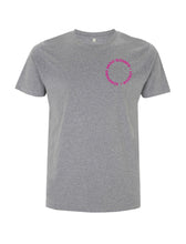 Load image into Gallery viewer, Neon Pink Root Of All Evil- Melange Grey T-Shirt