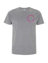 Load image into Gallery viewer, Neon Pink Root Of All Evil- Stone Wash Grey T-Shirt