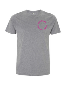 Neon Pink Root Of All Evil- Stone Wash Grey T-Shirt