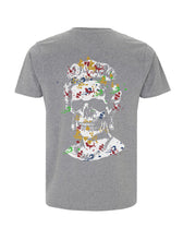 Load image into Gallery viewer, Splash Skull Artwork - Melange Grey T-Shirt