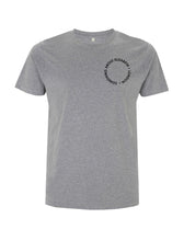 Load image into Gallery viewer, SAE Worn Logo - Melange Grey T-shirt (Black)