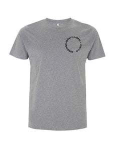 SAE Worn Logo - Melange Grey T-shirt (Black)