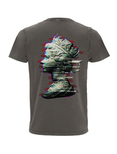Glitch Queen - Stone Wash Grey T-Shirt