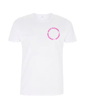 Load image into Gallery viewer, Neon Pink Root Of All Evil- White T-Shirt