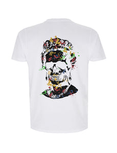 Splash Skull Artwork Black Print - T-shirt