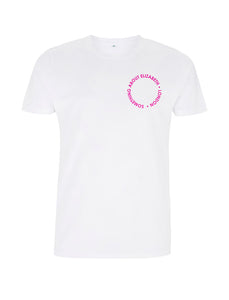 Neon Pink Root Of All Evil - T-Shirt