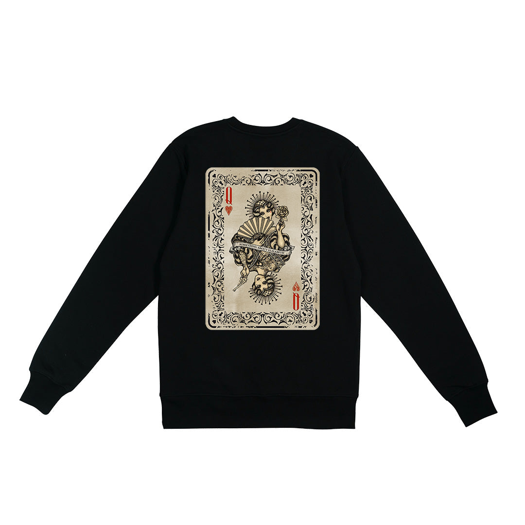 Queen Of Hearts Sweatshirt - Black