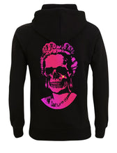 Load image into Gallery viewer, Neon Pink Root Of All Evil- Black Hoody
