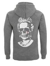 Load image into Gallery viewer, White Root Of All Evil- Dark Heather  Hoody