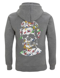White Splash Skull Artwork - Hoody