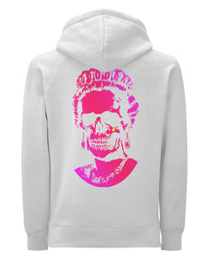 Root Of All Evil Neon Pink Print - Hoody