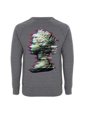 Load image into Gallery viewer, Glitch Queen - White Sweatshirt