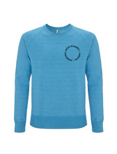 Load image into Gallery viewer, Root of All Evil -Melange Mid Blue Sweatshirt