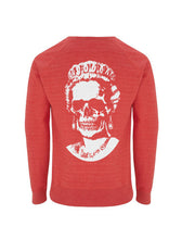 Load image into Gallery viewer, White Root Of All Evil- Melange Red Sweatshirt