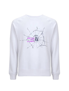 Glitch Queen - White Sweatshirt