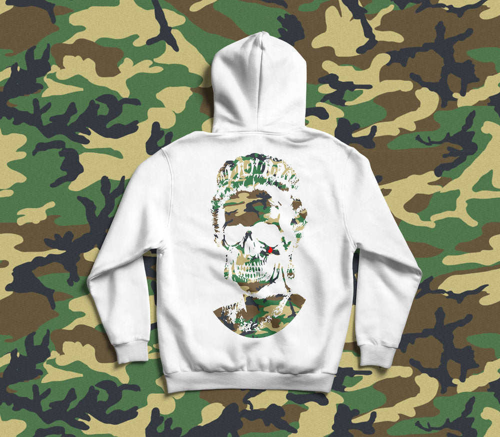 Root Of All Evil - White Camo Hoodies