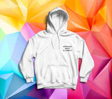 Load image into Gallery viewer, Root Of All Evil - White Polygon Hoody