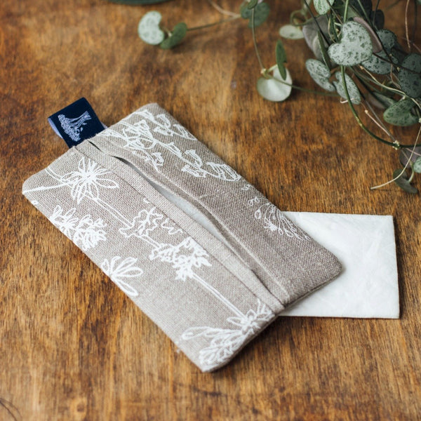 Linen Tissue Pouch holder