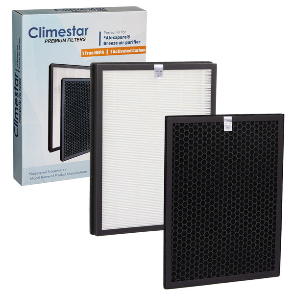 Climestar Filter for Alexapure Breeze Air Purifier – 1 True HEPA Filter and 1 Activated Carbon Pre-Filter, 1 Set