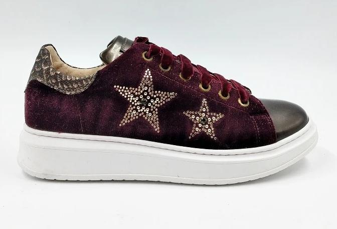 SNEAKERS STELLE BORDEAUX