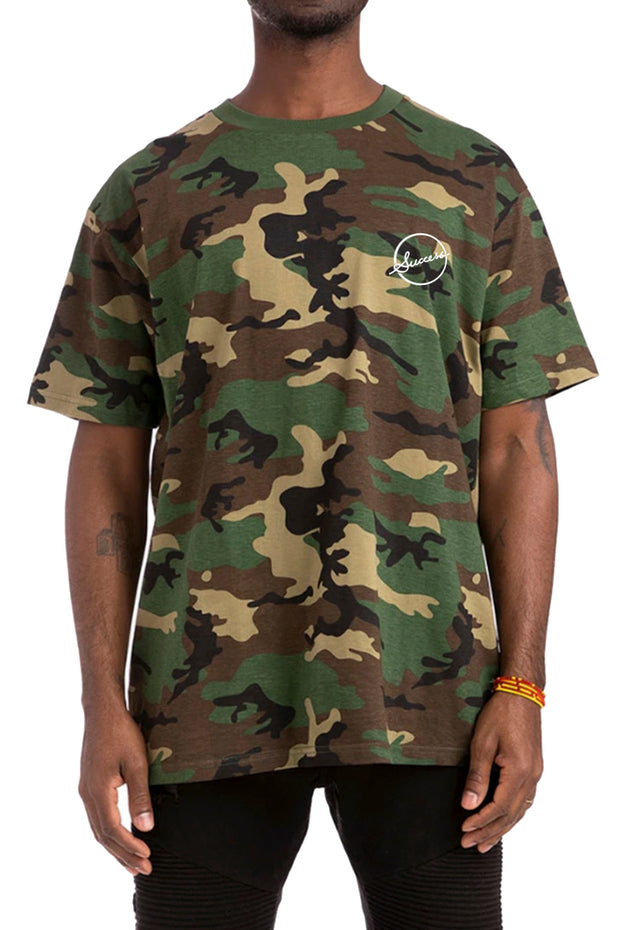 Circle - Tee Green Camo (Unisex) - Success Clothing