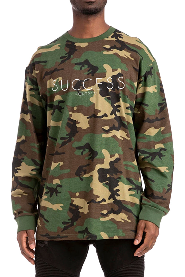 Montreal - Longsleeve Tee Green Camo (Unisex) - Success Clothing