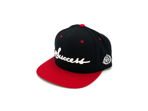 Accessories - Logo Snapbacks (Black/Red) - Success Clothing