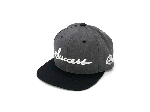 Accessories - Logo Snapbacks (Charcoal/Black) - Success Clothing