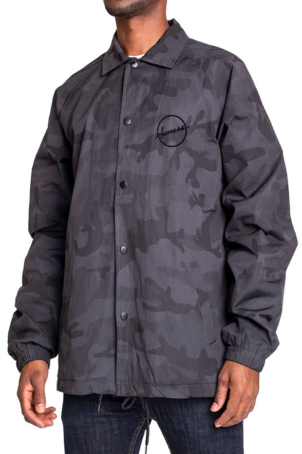 Coaches Jacket - Black Camo (Unisex) - Success Clothing