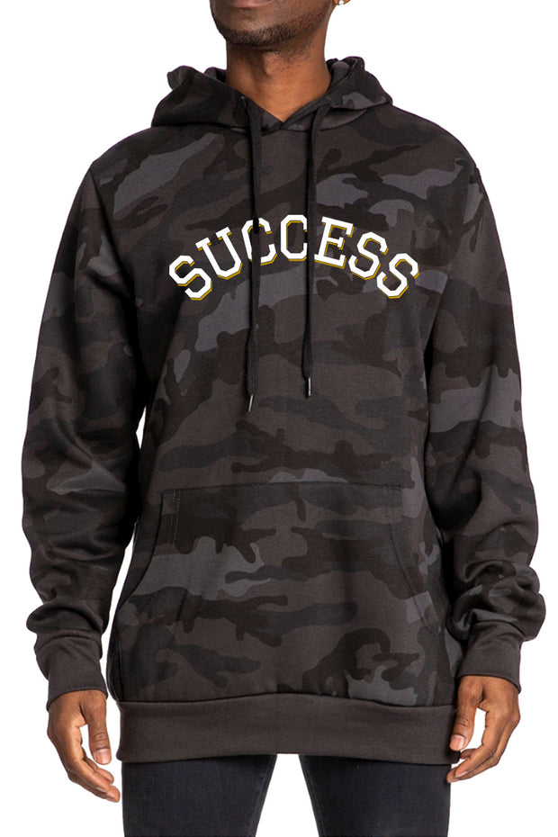 Varsity - Hoodie Black Camo (Unisex) - Success Clothing