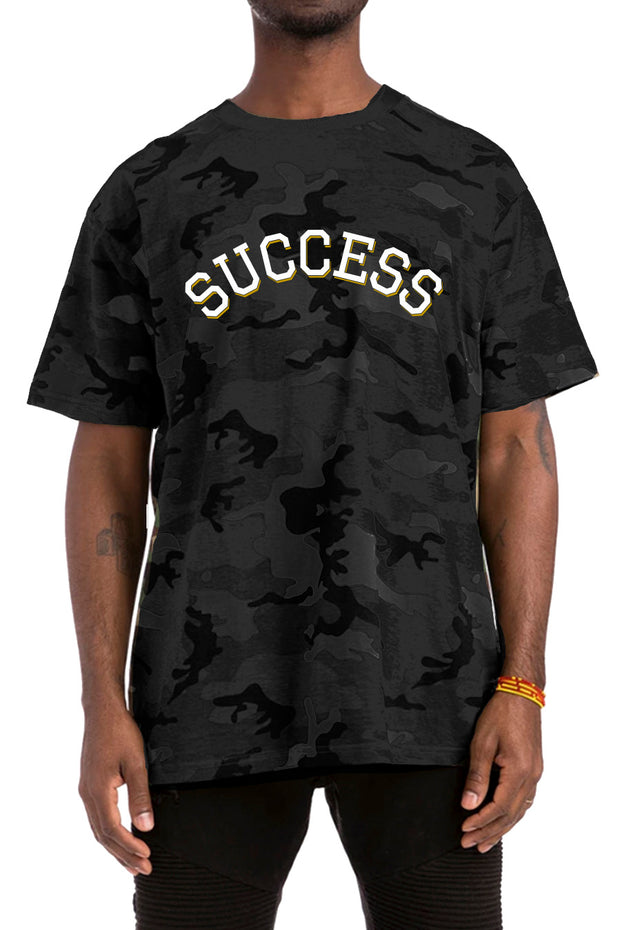 Varsity - Tee Black Camo (Unisex) - Success Clothing