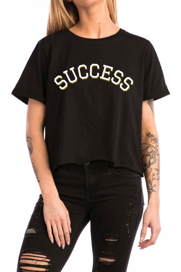 Varsity - Crop Top Black (Women) - Success Clothing