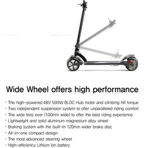 WideWheel Electric Scooter 500w