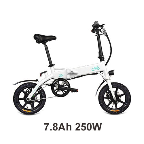 FIIDO D1 Folding eBike in white