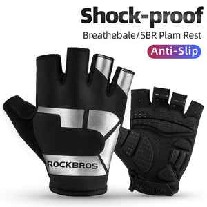 ROCKBROS Cycling Gloves MTB Road Gloves Mountain Bike Half Finger