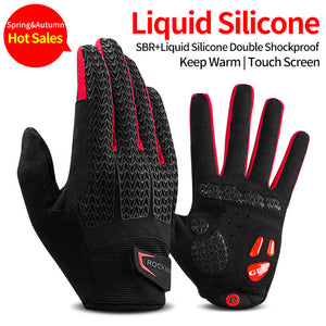 ROCKBROS Windproof Touch Screen Thermal Bicycle Gloves