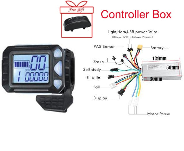 Ebike LED Display 24V/36V /48V 500W Electric Bicycle Display Led Bike Display For Ebike Conversion Kit