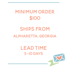 Low minimum order and quick turnaround times!