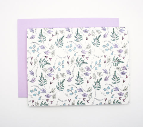 Spring floral and lavender note card set